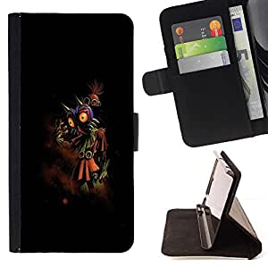 DEVIL CASE - FOR Sony Xperia Z1 L39 - Abstract Mythical Creature - Style PU Leather Case Wallet Flip Stand Flap Closure Cover