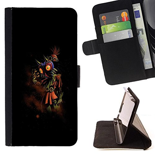 [Momo Phone Case / Wallet Leather Case Cover With Card Slots - Halloween Costume Scarecrow Art Colorful Cartoon - Samsung Galaxy S4 IV] (Cute Scarecrow Costumes)