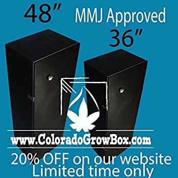 Colorado Grow Box - Stealth Hydroponic Grow box, 600 Watt, 6-Site MMJ System