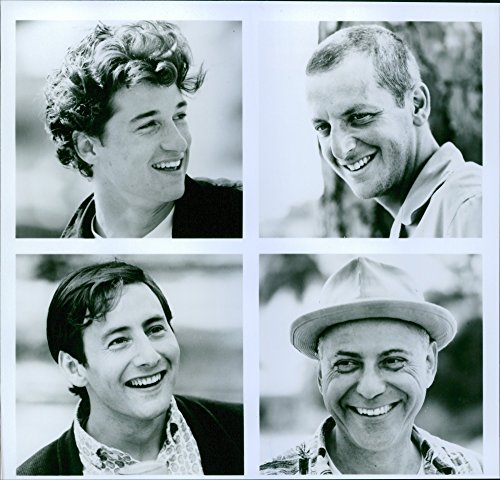 Vintage photo of Portraits of Patrick Dempsey, Daniel Stern, Arye Gross and Alan Arkin from the movie Coupe de Ville, 1990.