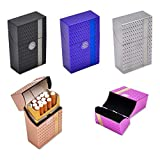 Transer- Cigarette Box Case, Auto Open Plastic Tobacco Pocket Storage Box Holder, Fit 20 Pcs 85mm Cigarettes (Assorted 5 Pcs)