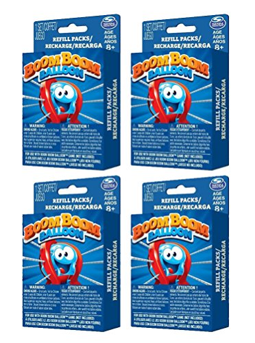4 PACK Spinmaster Games Boom Boom Balloon Refills Game