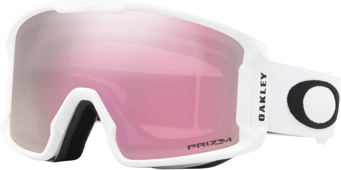 Oakley Line Miner Snow Goggle, Matte White, Medium, Prizm Hi Pink Iridium Lens