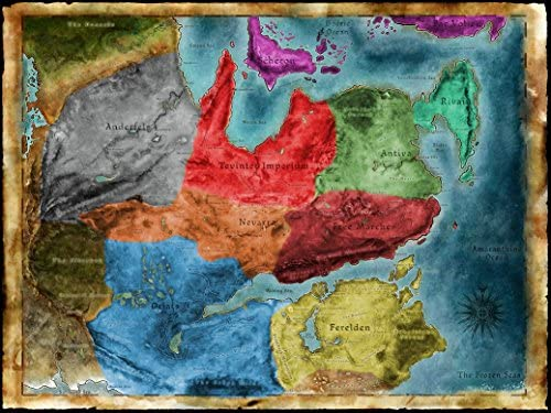 Amazon.com: Thedas Map Dragon Age Fabric Cloth Rolled Wall ...