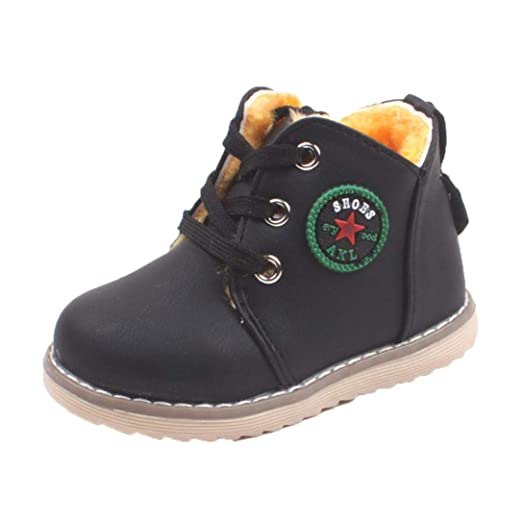 0163f9c2e2787 Amazon.com: Gyoume Children Ankle Boots Kids Shoes Boys Girls Sport ...