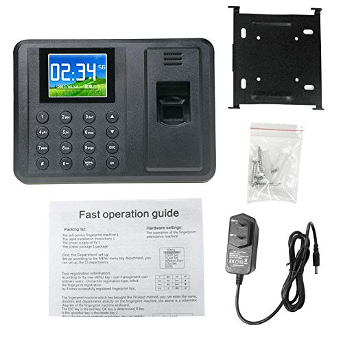 Shentesel Biometric Fingerprint Time Attendance Machine Employee Electronic  Clock Recorder - Black