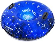 HITOP Snow Tube, Inflatable Snow Sled for Kids and Adults, Heavy Duty Snow Tube Made by Thickening Material of