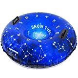 HITOP Snow Tube, Inflatable Snow Sled for Kids and