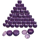 Beauticom 48 Pieces 10G/10ML Purple Frosted Container Jars with Inner Liner for Homemade Moisturizers, Lotions, Skin Care Products - BPA Free