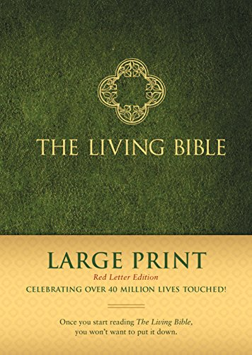 The Living Bible Large Print Red Letter Edition (Red Letter, Hardcover, Green) from Tyndale House Publishers