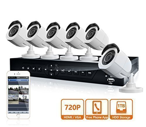LaView 8 Channel 720P HD DVR Security System with 1TB Surveillance HDD and 6 x 720P Day/Night Bullet Cameras (White) LV-KDT0806B7W-1TB - Network Scanner Expansion Kit