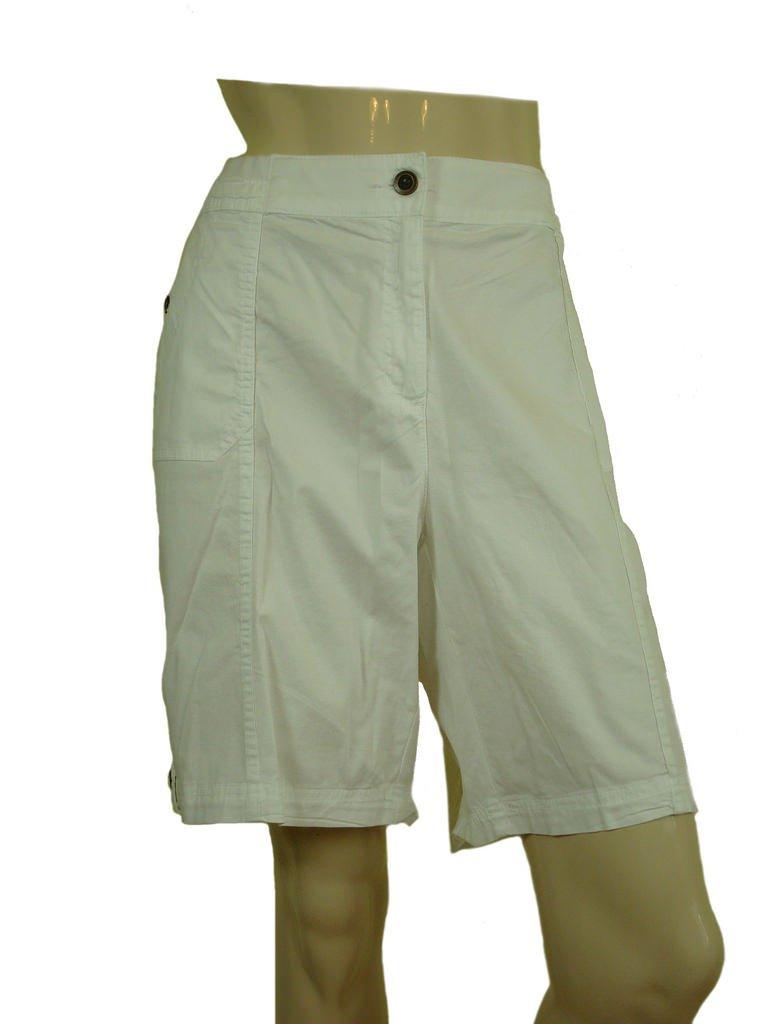 Karen Scott Womens Plus Comfort Waist Flat Front Casual Shorts White 24W