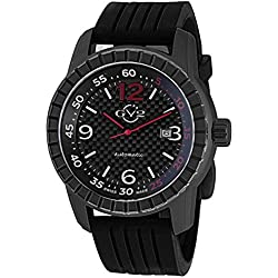 GV2 by Gevril Men's 9302 Lucky 7 Analog Display Automatic Self Wind Black Watch