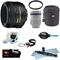 Nikon AF-S 50mm f/1.4G SIC SW Prime Nikkor Lens Bundle with 58mm UV Filter + Lens Case + Lens Band + Accessories