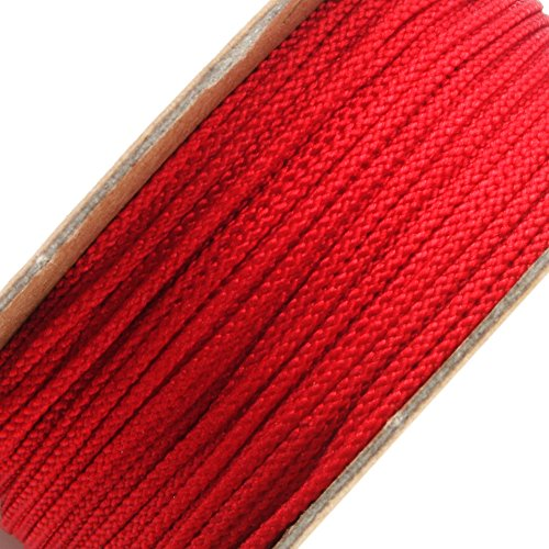 BEADNOVA 1mm Red Color Premium Grade Nylon Beading Thread String Rope Roll Macrame Cord 20 Yard 60 Feet 18m (Wire Patterns Bracelet)