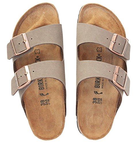 Birkenstock Arizona Mocha Birko-Flor 'Narrow Fit' Women's Sandals (9-9.5 US Women - 40 N EU) by Birkenstock (Image #5)