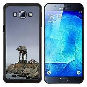 Qstar Arte & diseño plástico duro Fundas Cover Cubre Hard Case Cover para Samsung Galaxy A8 A8000 (Starwars Mech)