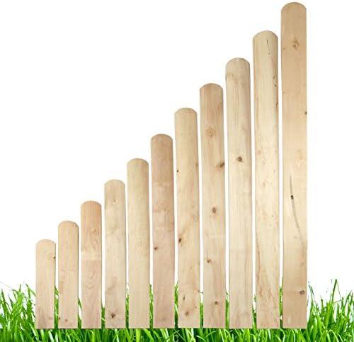 Listones de madera para valla de balcón o jardín: Amazon.es: Jardín