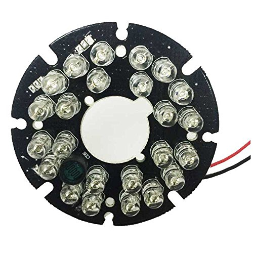 Infrared Led Board (HonYan 2PCS 24 LEDs 5mm 850nm IR Infrared Board Round Plate 90 Degree, IR Board)