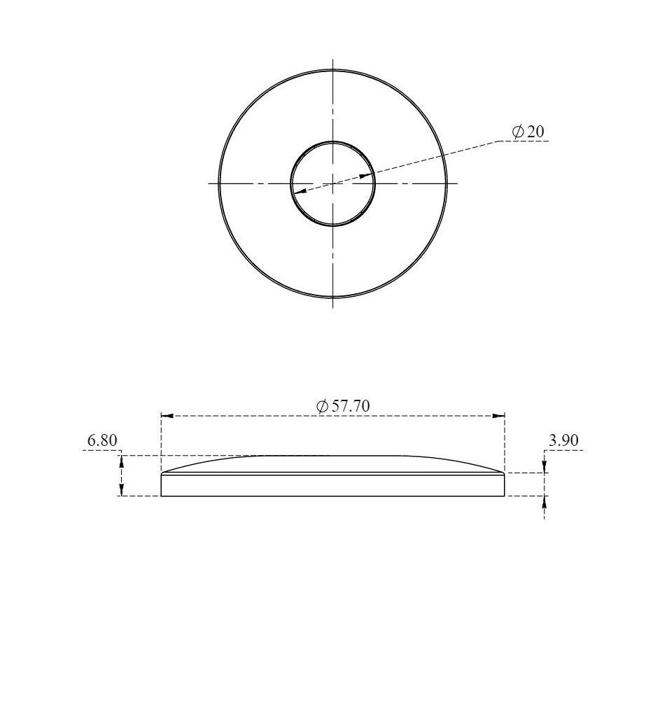 ALUIDS 1//2 IPS Shower Arm Flange SS Polished - C8007.02x25 Pack of 25 Pcs