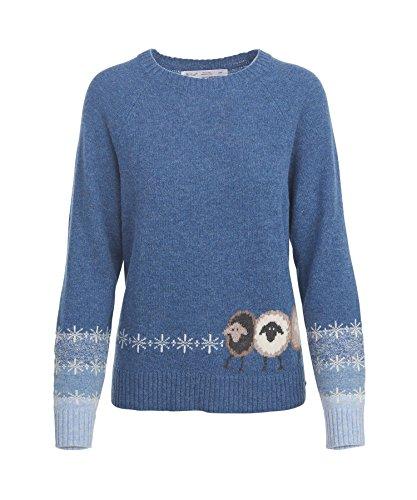 Blue Sweater Lambswool (Woolrich Women's Sheep Crewneck Lambswool Sweater, DENIM COMBO (Blue), Size S)