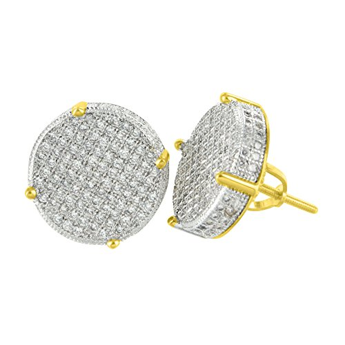 Earrings Yellow Finish Diamonds Classy product image