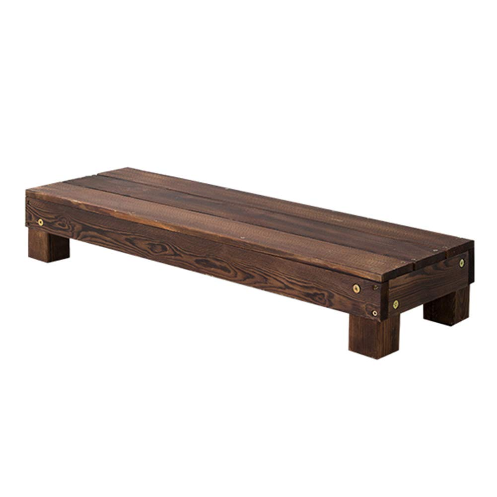 90x30x15cm Hua Wooden Flower Stand Bench, Stepped Balcony Living Room Carbonized Wood Flower Stand Potted Flower Pot Rack Bench Rack (Size   120x30x30cm)