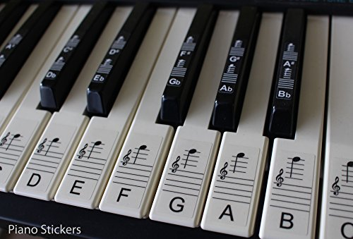 Keyboard Or Piano Stickers Up To 88 Key Set For The Black