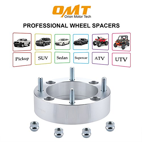 OrionMotorTech UTV ATV 4x156 Wheel Spacers with 3/8''-24 Studs for Polaris Ranger, RZR, Sportsman, Diesel, Xplorer ||| Kawasaki 300B Lakota, KSF 250 Mojave, KXT 250 Tecate - 4pcs 2'' by OrionMotorTech (Image #8)