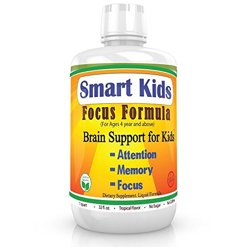 Best #1 Liquid Brain Formula For Your Kids, Healthy Kids, Happy Kids, Focus, Attention, School Study, Brain Support #1 NON STIMULANT, NON-HABIT FORMING, & NON ADDICTIVE BRAIN FOCUS FORMULA 45 (Allergy Gone Formula)