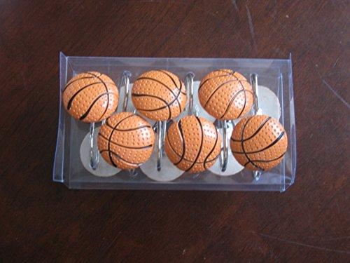 Basketball Shower Curtain Hooks