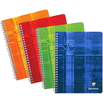 """Clairefontaine 8731 Wirebound Notebook, 6.75"""" x 8.63"""", French Ruled"""