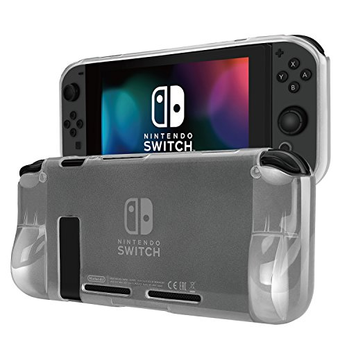 TNP Case Cover for Nintendo Switch Console & Joy-Con Controller – Travel Friendly Crystal Clear TPU Plastic Shell Protector, Anti-Scratch Shockproof Protective Nintendo Switch Accessories (Clear) For Sale