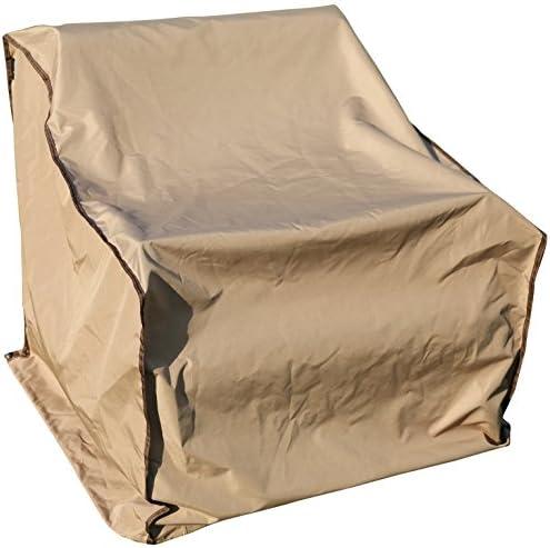 SORARA Sofa Cover – Single Seater, Outdoor Armchair Cover, Water Resistant, Brown