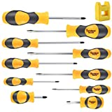 Magnetic Screwdriver Set,Famistar Cushion Grip 5 Phillips and 5 Flat Head Tips Screwdriver
