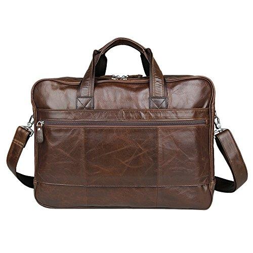 Genda 2Archer Real Leather Large 17'' Laptop Business Briefcase Travelling Bag by Genda 2Archer