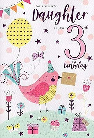 ICG Tarjeta de felicitación de 3º cumpleaños para una Hija ...