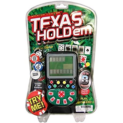 Pocket Arcade Miles Kimball Handheld Texas Hold Em Game: Toys & Games