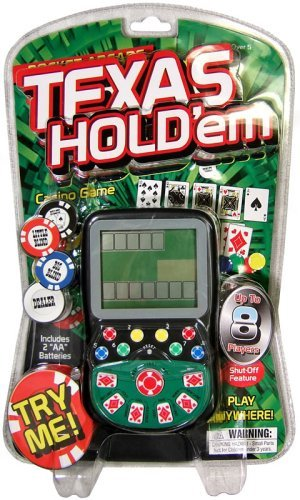 Pocket Arcade Miles Kimball Handheld Texas Hold Em Game ()