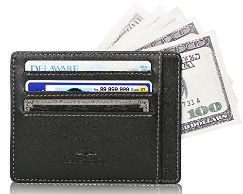 Secret Felicity Männer dünne Karteninhalter RFID SAFE Leder Fronttasche Brieftasche, Ledergeldbörse, Geldbörse Herren Kreditkartenetui SFR1