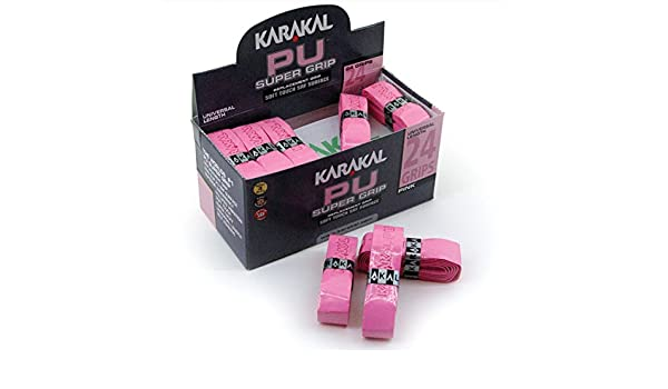 Amazon.com : Karakal PU Super Grip Box 24 Duo Replacement Grip-Assorted Colors : Sports & Outdoors