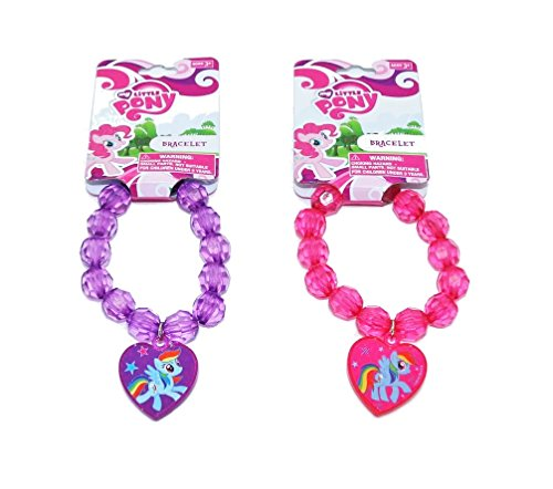 My Little Pony Beaded Bracelet with Heart Charm - Assorted Styles (My Little Pony Accessories)