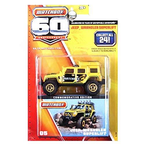 Superlift Jeep - Matchbox 60th Anniversary Superfast Jeep Wrangler Superlift Yellow