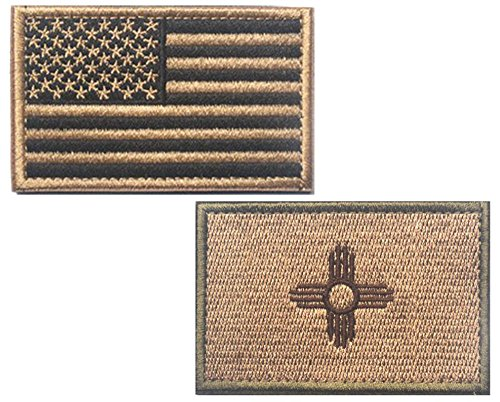 HFDA 2 piece US Flag and KB NEW MEXICO Flag Patches Velcro M