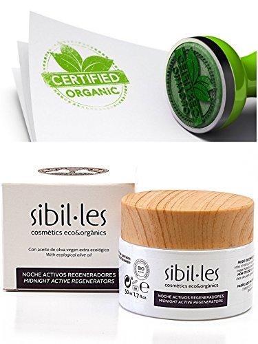 Sibil · i–Crema Notte bio Rigenerante. Per Pelli Secche e Sensibili. Con olio di rosa musquée e cera d' api. Antirughe Crema naturale.