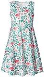Leapparel Fancy Dresses for Toddlers Girls Mini Sleeveless Flamingos Design 8-9T