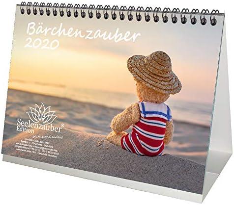 Bärchenzauber DIN A5 Kalender/Tischkalender 2020 Teddy und Bärchen Geschenk-Set: Zusätzlich 1 Gruß- und 1 Weihnachtskarte - Seelenzauber
