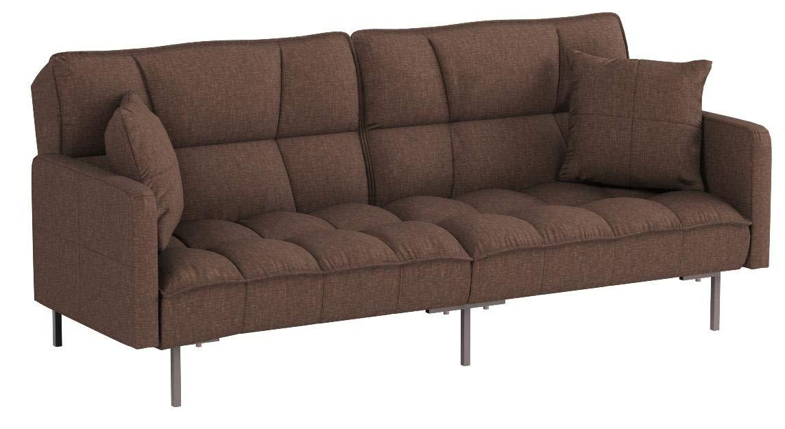 Modern Plush Tufted Linen Fabric Sleeper Futon by DIVANO ROMA FURNITURE