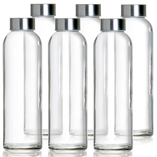 MEGALOWMART Glass Bottle Set Without Strap (Pack of 6)