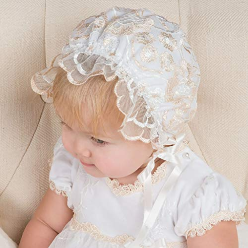 Gwen Baby Girls Lace Bonnet (9-12 ONLY)